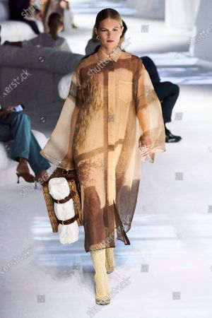 Stock Image of Anna Ewers on the catwalk