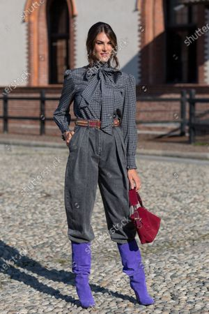 Editorial photo of Street Style, Spring Summer 2021, Milan Fashion Week, Italy - 23 Sep 2020