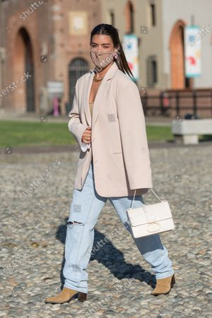 Editorial photo of Street Style, Spring Summer 2021, Milan Fashion Week, Italy - 23 Sep 2020