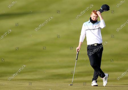 Gavin Moynihan on the 17th green
