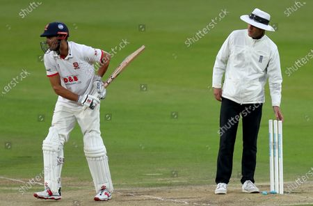Umpire Russell Warren removes the bails due to bad light during Somerset CCC vs Essex CCC, Bob Willis Trophy Final Cricket at Lord's Cricket Ground on 24th September 2020