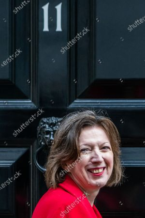 Stock Photo of Frances O'Grady, General Secretary of the TUC arrives to meet Rishi Sunak before he heads off to Parliament to make his Winter Economy Plan statement, on funding the next stage of the Coronavirus Restrictions.