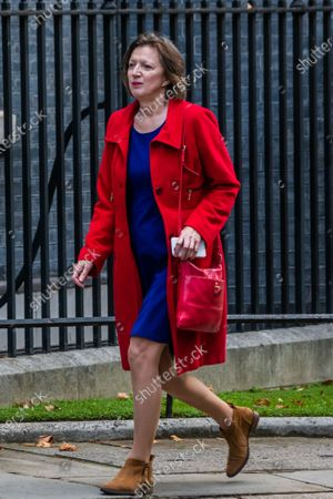 Stock Image of Frances O'Grady, General Secretary of the TUC arrives to meet Rishi Sunak before he heads off to Parliament to make his Winter Economy Plan statement, on funding the next stage of the Coronavirus Restrictions.