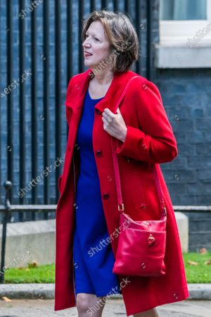 Stock Picture of Frances O'Grady, General Secretary of the TUC arrives to meet Rishi Sunak before he heads off to Parliament to make his Winter Economy Plan statement, on funding the next stage of the Coronavirus Restrictions.