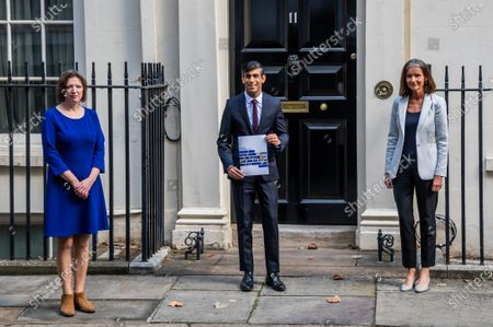 Editorial picture of Rishi Sunak heads off to Parliament to make his Winter Economy Plan statement, on funding the next stage of the Coronavirus Restrictions., Downing Street, London, UK - 24 Sep 2020