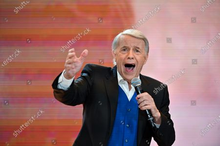 Singer Salvatore Adamo during the 32nd edition of Télévie, a large solidarity movement, started in 1989 and organised by RTL Belgium, to raise funds for R.S - FNRS. Télévie helps raise money to fund research into cancer and leukemia in children and adults.