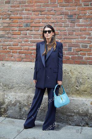 Editorial photo of Street Style, Spring Summer 2021, Milan Fashion Week, Italy - 24 Sep 2020