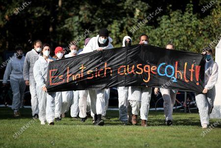 Editorial photo of Ende Gelaende protest at Rhenish coal mining area, Erkelenz, Germany - 24 Sep 2020