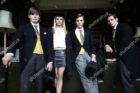Dorian [Christian Cooke], Rosalind [Isabella Calthorpe], Jonty [Tom Hughes] Rupert [Liam Bergin]