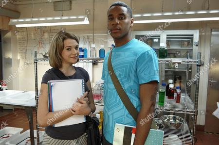 Picture shows: Charlotte Arc [Antonia Bernath] and Theo [Reggie Yates]