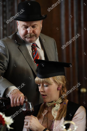 Stock Photo of Picture shows: Pete Hopkins The Porter [Rod Arthur] and Maddy [Elen Rhys]