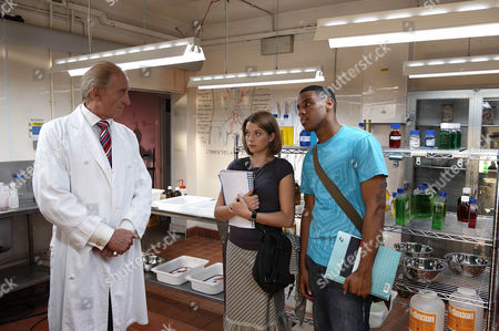 Picture shows: The Dean Dr Maltravers [Charles Dance], Charlotte Arc [Antonia Bernath] and Theo [Reggie Yates]