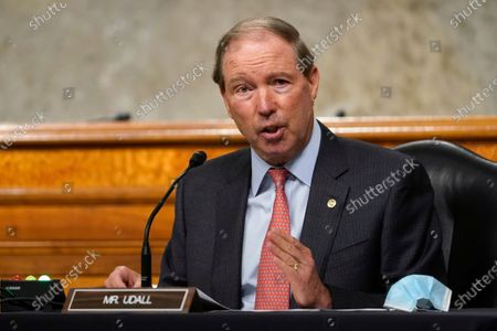 Sen. Tom Udall, D-N.M., speaks during a Senate Foreign Relations Committee hearing on Capitol Hill in Washington, on U.S. policy in a changing Middle East