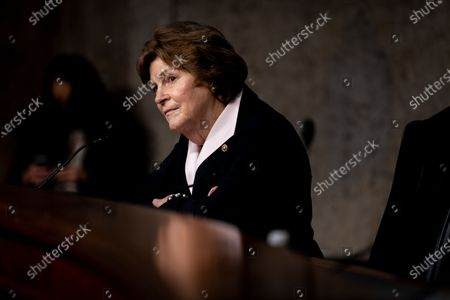 Stock Photo of United States Senator Jeanne Shaheen (Democrat of New Hampshire) speaks during at a Senate Committee on Foreign Relations hearing on US Policy in the Middle East on Capitol Hill in Washington, DC on September 24, 2020.