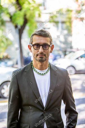 Italy, outside, Fendi Woman fashion show, Simone Marchetti director of Vanity Fair magazine guest of the show.