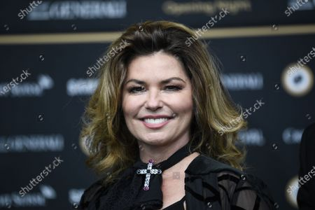 Shania Twain poses on the Green Carpet for the Opening Night of the 16th Zurich Film Festival (ZFF) in Zurich, Switzerland, Thursday, 24 September 2020.