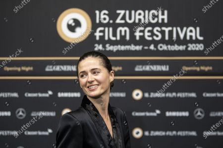 Agnieszka Grochowska poses on the Green Carpet for the Opening Night of the 16th Zurich Film Festival (ZFF) in Zurich, Switzerland, 24 September 2020.