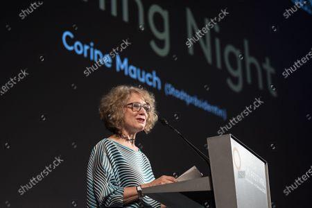 Stock Photo of Corine Mauch, mayor of Zurich speaks for the Opening Night of the 16th Zurich Film Festival (ZFF) in Zurich, Switzerland, 24 September 2020.