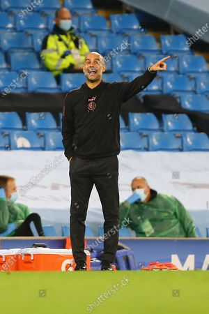 Stock Image of Pep Guardiola, manager of Manchester City