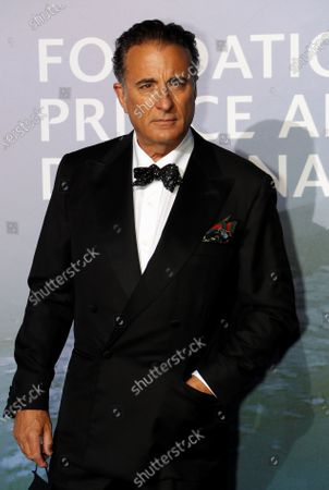 Actor Andy Garcia poses on the red carpet ahead of the 2020 Monte-Carlo Gala for Planetary Health in Monaco September 24, 2020.