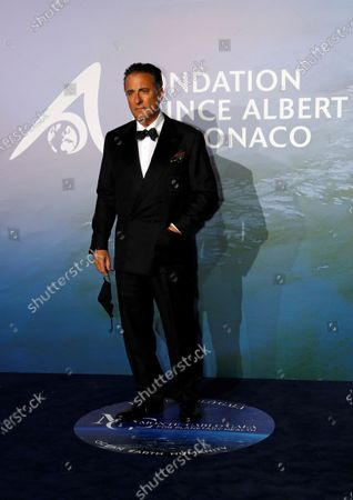 Actor Andy Garcia poses on the red carpet ahead of the 2020 Monte-Carlo Gala for Planetary Health in Monaco, 24 September 2020.