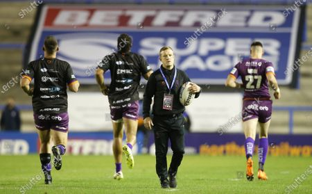 Huddersfield Giants interim head coach Luke Robinson before the game