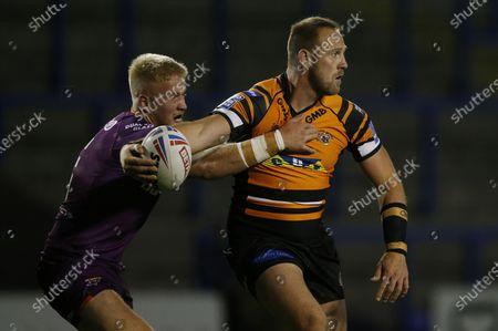 Editorial image of Castleford Tigers v Huddersfield Giants. Warrington, UK - 24 Sep 2020