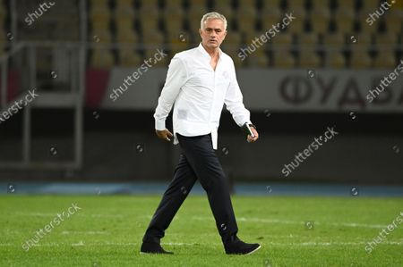 Tottenham Hotspur's head coach Jose Mourinho after the UEFA Europa League third round qualifying soccer match between Shkendija and Tottenham Hotspur in Skopje, North Macedonia, 24 September 2020.