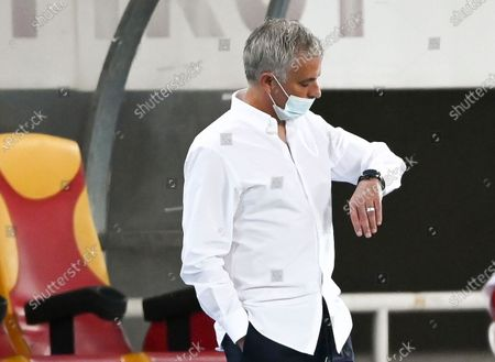 Tottenham Hotspur's head coach Jose Mourinho prior to the UEFA Europa League third round qualifying soccer match between Shkendija and Tottenham Hotspur in Skopje, North Macedonia, 24 September 2020.