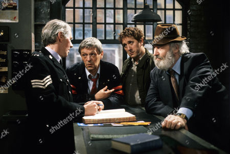 'There Goes The Bride' Stephen Hancock as Police Sergeant, Russell Hunter as Harry, Don Crann as Charlie and Bill Maynard as The Gaffer, Fred Moffatt.
