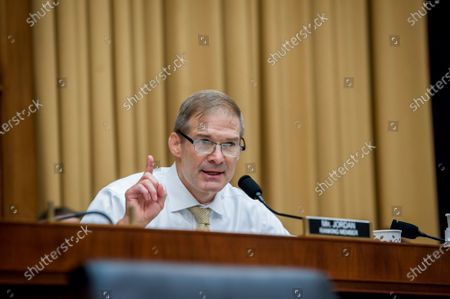 United States Representative Jim Jordan (Republican of Ohio) offers remarks to the panel during a House Committee on the Judiciary hearing Diversity in America: The Representation of People of Color in the Media in the Rayburn House Office Building on Capitol Hill in Washington, DC., Thursday, September 24, 2020.