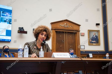 Stock Photo of Joy Villa, Recording Artist, Actor, and Author appears before a House Committee on the Judiciary hearing Diversity in America: The Representation of People of Color in the Media in the Rayburn House Office Building on Capitol Hill in Washington, DC., Thursday, September 24, 2020.