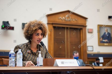 Stock Picture of Joy Villa, Recording Artist, Actor, and Author appears before a House Committee on the Judiciary hearing Diversity in America: The Representation of People of Color in the Media in the Rayburn House Office Building on Capitol Hill in Washington, DC., Thursday, September 24, 2020.