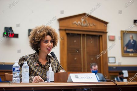 Joy Villa, Recording Artist, Actor, and Author appears before a House Committee on the Judiciary hearing Diversity in America: The Representation of People of Color in the Media in the Rayburn House Office Building on Capitol Hill in Washington, DC., Thursday, September 24, 2020.