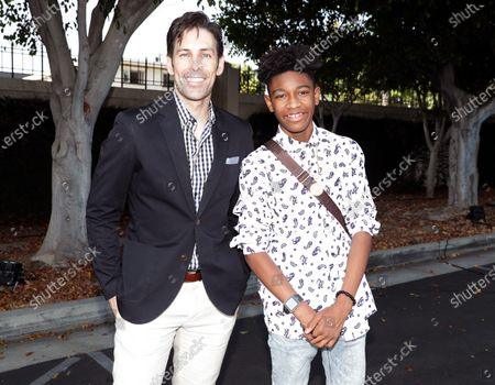 Jordan Belfi and Krystian Alexander Lyttle at the 'FOSTER BOY' Los Angeles Premiere at the Sony Picture Drive-In Experience