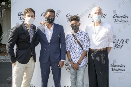 Jordan Belfi, Shane Paul McGhie, Krystian Alexander Lyttle and Matthew Modine at the 'FOSTER BOY' Los Angeles Premiere at the Sony Picture Drive-In Experience