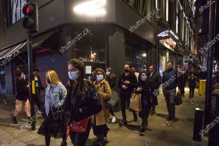 Editorial photo of Soho 10pm curfew, London, UK - 24 Sep 2020