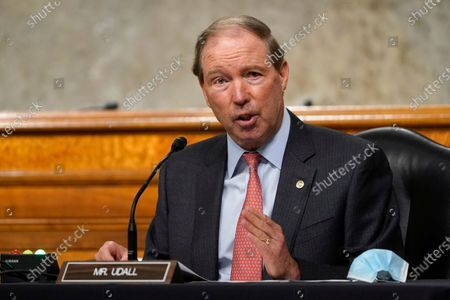 Sen. Tom Udall, D-N.M., speaks during a Senate Foreign Relations Committee hearing on Capitol Hill in Washington on U.S. policy in a changing Middle East. Democratic U.S. senators from New Mexico have frozen the nomination process for two U.S. District Court vacancies until after the November election, citing the president's politicization of the process. Sens. Tom Udall, who is not running for re-election as he retires at the end of the year, and Martin Heinrich, not seen, put the brakes on appointments prior to the death of Justice Ruth Bader Ginsburg, in response a Trump appearance at the White House to promote his future judiciary appointments and denounce a radical leftwing movement