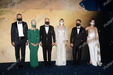 Stock Picture of Milutin Gatsby, Helen Mirren, Prince Albert II of Monaco, Princess Charlene of Monaco, Andy Garcia and Kate Beckinsale