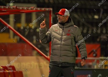Liverpool Jurgen Klopp against Lincoln in the EFL cup