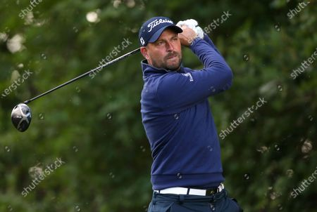 England's David Howell on the 9th tee