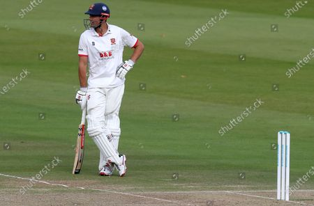 Sir Alastair Cook of Essex rests on his bat during Somerset CCC vs Essex CCC, Bob Willis Trophy Final Cricket at Lord's Cricket Ground on 25th September 2020