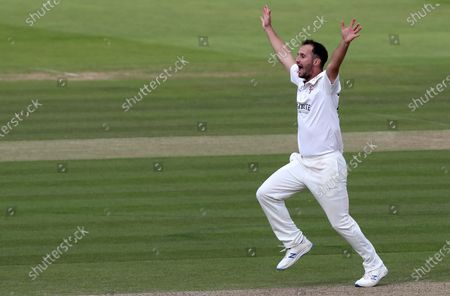 Lewis Gregory of Somerset appeals for the wicket of Tom Westley during Somerset CCC vs Essex CCC, Bob Willis Trophy Final Cricket at Lord's Cricket Ground on 25th September 2020
