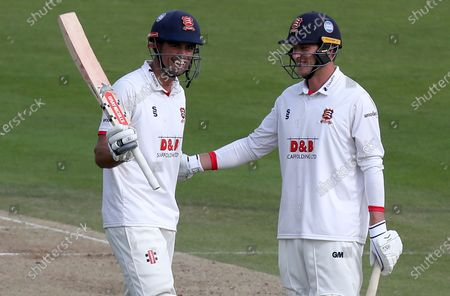 Sir Alastair Cook of Essex celebrates scoring a century of runs during Somerset CCC vs Essex CCC, Bob Willis Trophy Final Cricket at Lord's Cricket Ground on 25th September 2020