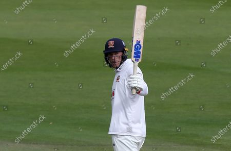 Tom Westley of Essex celebrates scoring fifty runs during Somerset CCC vs Essex CCC, Bob Willis Trophy Final Cricket at Lord's Cricket Ground on 25th September 2020