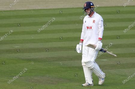 Tom Westley of Essex leaves the field having been caught out during Somerset CCC vs Essex CCC, Bob Willis Trophy Final Cricket at Lord's Cricket Ground on 25th September 2020