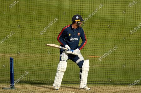 Tom Westley of Essex  warms up prior to Somerset CCC vs Essex CCC, Bob Willis Trophy Final Cricket at Lord's Cricket Ground on 25th September 2020
