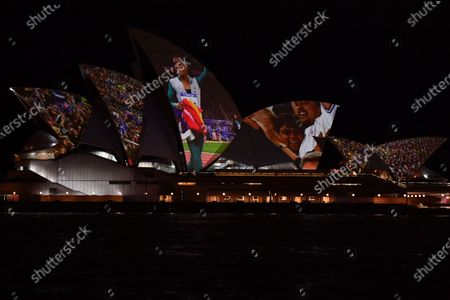 Editorial photo of 20th anniversary of Cathy Freeman's 400m Olympic win, Sydney, Australia - 25 Sep 2020