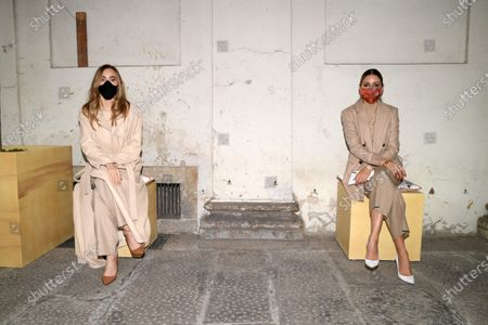 Suki Waterhouse and Olivia Palermo socially distanced in the front row