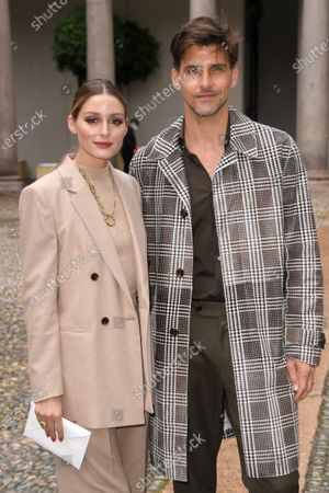 Stock Picture of Olivia Palermo and Johannes Huebl in the front row